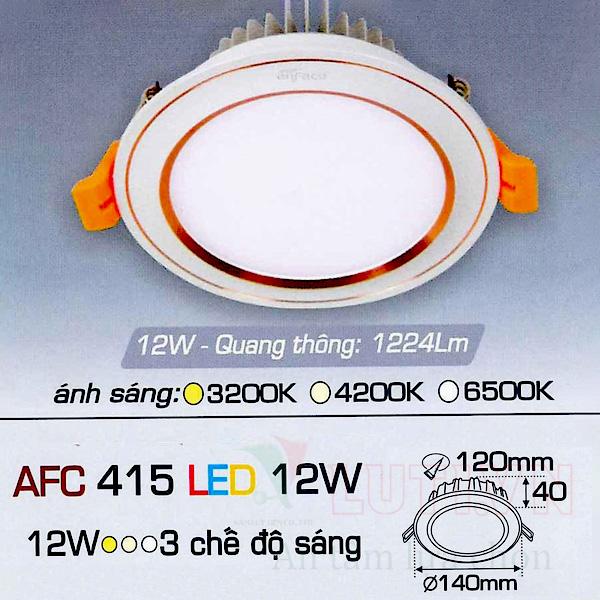 Đèn led âm trần AFC-415-12W-3CĐ