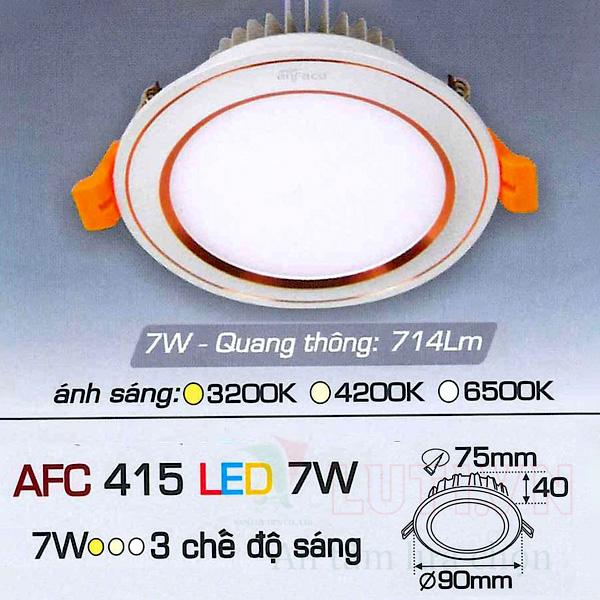 Đèn led âm trần AFC-415-7W