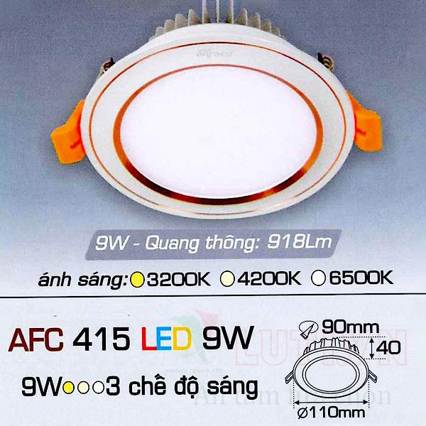 Đèn led âm trần AFC-415-9W