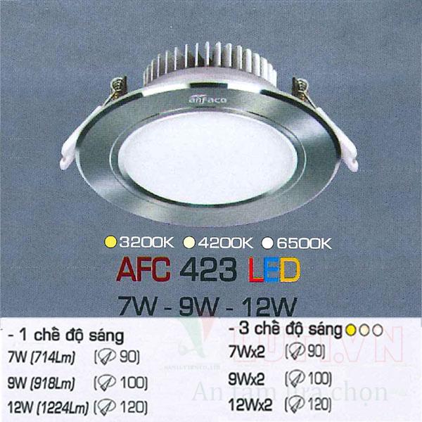 Đèn led âm trần AFC-423-9W-3CĐ