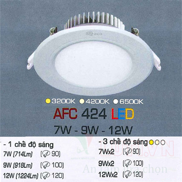 Đèn led âm trần AFC-424-9W
