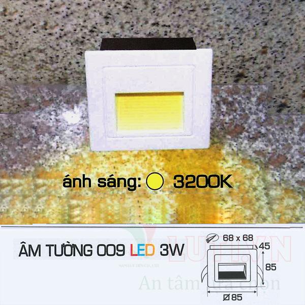 Đèn âm tường AFC-009-3W