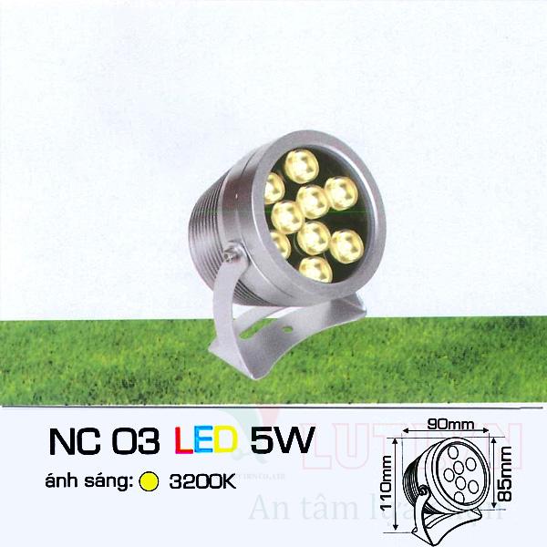 Đèn ghim cỏ AFC-NC03-5W