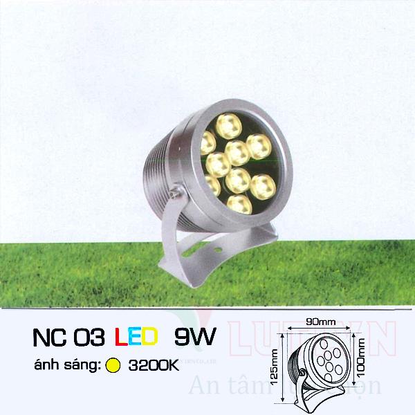 Đèn ghim cỏ AFC-NC03-9W