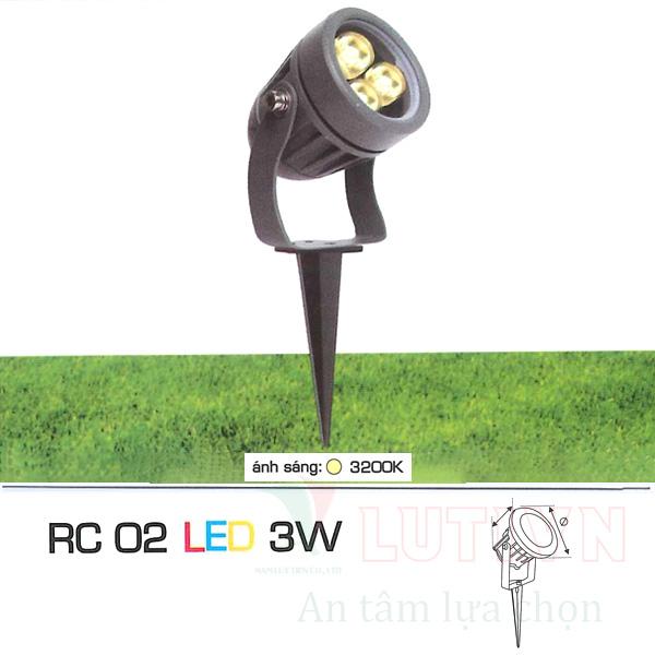 Đèn ghim cỏ AFC-RC02-3W