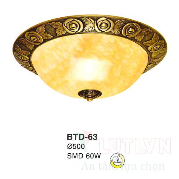 Đèn mâm áp trần BTD-63