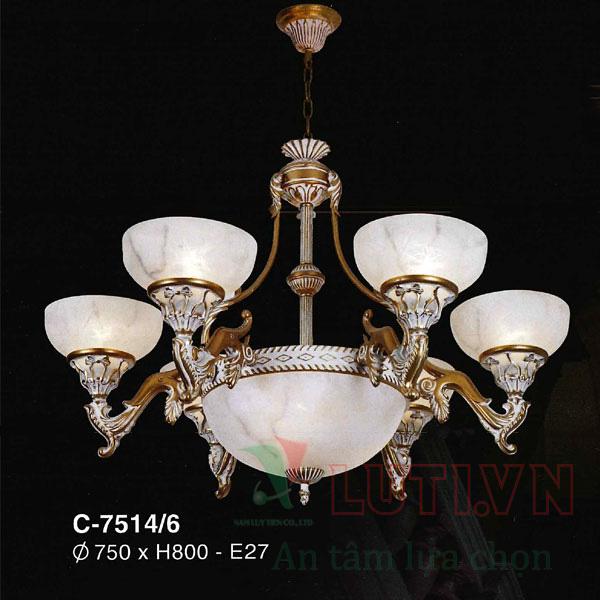 Đèn chùm cổ điển C-7514/8+4