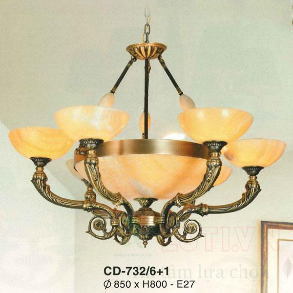 Chao đèn thả CD-732/6+1
