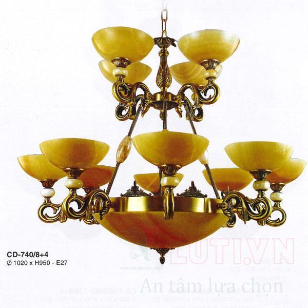 Chao đèn thả CD-740/8+4