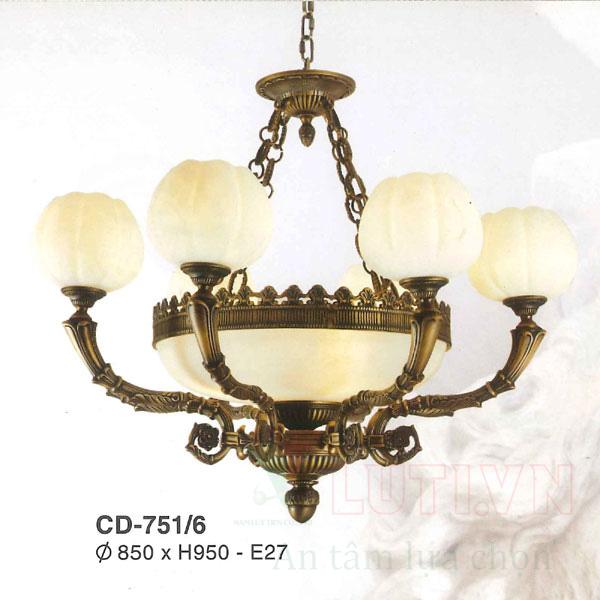 Đèn chùm đồng CD-751/6