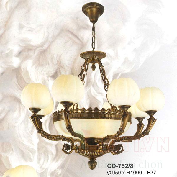 Đèn chùm đồng CD-752/8
