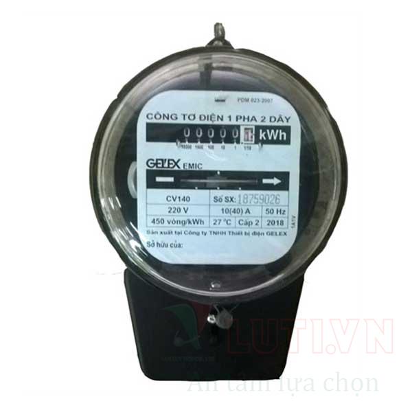 Công tơ điện 1 pha CV140-10/40A
