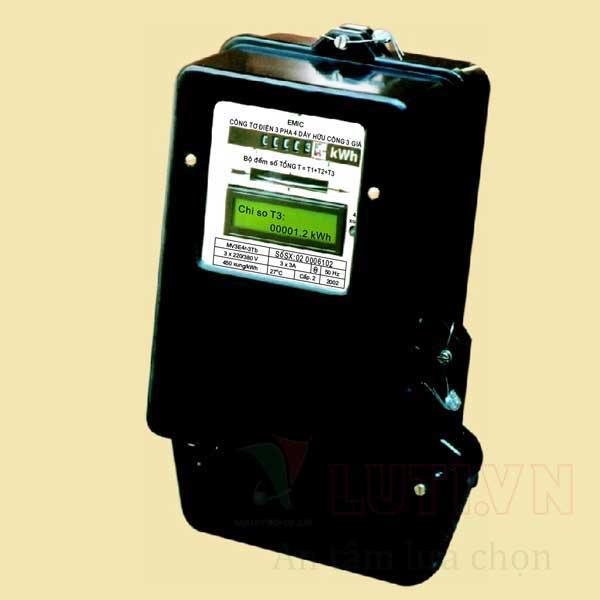 Công tơ điện 3 pha 3 giá MV3Tb - 50/100A