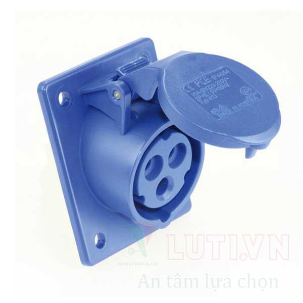Ổ cắm gắn âm loại không kín nước dạng nghiêng F413-6